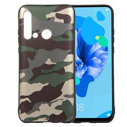 Camouflage Soft TPU Back Cover for Huawei P20 Lite(2019) - Gold Green
