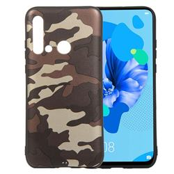 Camouflage Soft TPU Back Cover for Huawei P20 Lite(2019) - Gold Coffee