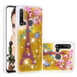 Golden Tower Dynamic Liquid Glitter Quicksand Soft TPU Case for Huawei P20 Lite(2019)