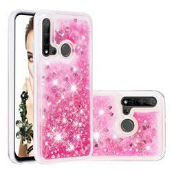 Dynamic Liquid Glitter Quicksand Sequins TPU Phone Case for Huawei P20 Lite(2019) - Rose