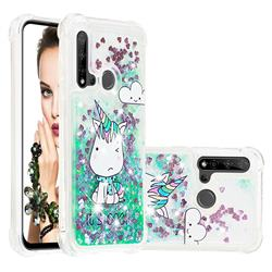 Tiny Unicorn Dynamic Liquid Glitter Sand Quicksand Star TPU Case for Huawei P20 Lite(2019)