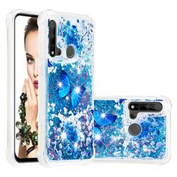 Flower Butterfly Dynamic Liquid Glitter Sand Quicksand Star TPU Case for Huawei P20 Lite(2019)