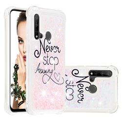 Never Stop Dreaming Dynamic Liquid Glitter Sand Quicksand Star TPU Case for Huawei P20 Lite(2019)