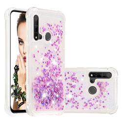 Dynamic Liquid Glitter Sand Quicksand Star TPU Case for Huawei P20 Lite(2019) - Rose