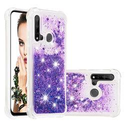 Dynamic Liquid Glitter Sand Quicksand Star TPU Case for Huawei P20 Lite(2019) - Purple