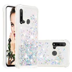 Dynamic Liquid Glitter Sand Quicksand Star TPU Case for Huawei P20 Lite(2019) - Silver