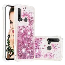 Dynamic Liquid Glitter Sand Quicksand Star TPU Case for Huawei P20 Lite(2019) - Diamond Rose