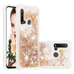 Dynamic Liquid Glitter Sand Quicksand Star TPU Case for Huawei P20 Lite(2019) - Diamond Gold