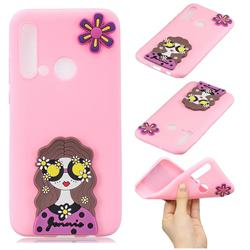 Violet Girl Soft 3D Silicone Case for Huawei P20 Lite(2019)