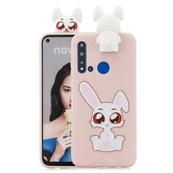 Cute Rabbit Soft 3D Climbing Doll Stand Soft Case for Huawei P20 Lite(2019)
