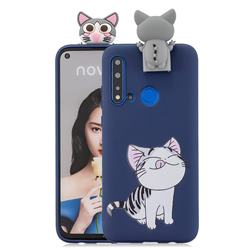 Grinning Cat Soft 3D Climbing Doll Stand Soft Case for Huawei P20 Lite(2019)