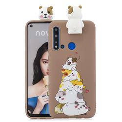 Hamster Family Soft 3D Climbing Doll Stand Soft Case for Huawei P20 Lite(2019)
