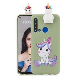 Cute Unicorn Soft 3D Climbing Doll Stand Soft Case for Huawei P20 Lite(2019)