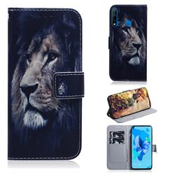Lion Face PU Leather Wallet Case for Huawei P20 Lite(2019)