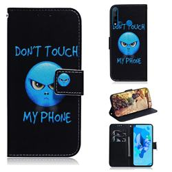 Not Touch My Phone PU Leather Wallet Case for Huawei P20 Lite(2019)