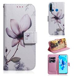 Magnolia Flower PU Leather Wallet Case for Huawei P20 Lite(2019)