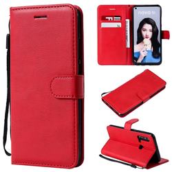 Retro Greek Classic Smooth PU Leather Wallet Phone Case for Huawei P20 Lite(2019) - Red