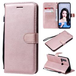 Retro Greek Classic Smooth PU Leather Wallet Phone Case for Huawei P20 Lite(2019) - Rose Gold