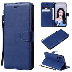 Retro Greek Classic Smooth PU Leather Wallet Phone Case for Huawei P20 Lite(2019) - Blue