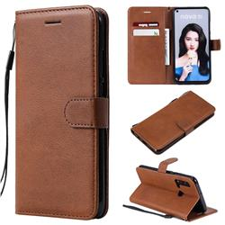 Retro Greek Classic Smooth PU Leather Wallet Phone Case for Huawei P20 Lite(2019) - Brown