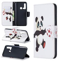 Football Panda Leather Wallet Case for Huawei P20 Lite(2019)