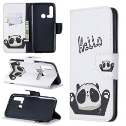 Hello Panda Leather Wallet Case for Huawei P20 Lite(2019)
