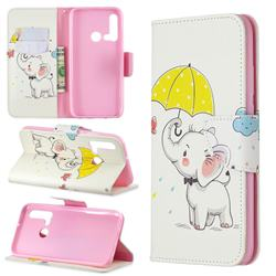 Umbrella Elephant Leather Wallet Case for Huawei P20 Lite(2019)