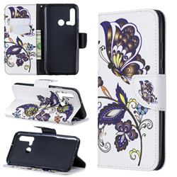 Butterflies and Flowers Leather Wallet Case for Huawei P20 Lite(2019)