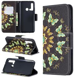 Circle Butterflies Leather Wallet Case for Huawei P20 Lite(2019)