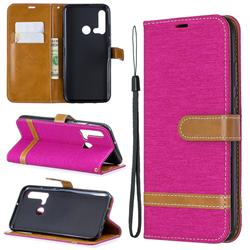 Jeans Cowboy Denim Leather Wallet Case for Huawei P20 Lite(2019) - Rose