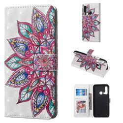 Mandara Flower 3D Painted Leather Phone Wallet Case for Huawei P20 Lite(2019)