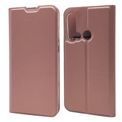 Ultra Slim Card Magnetic Automatic Suction Leather Wallet Case for Huawei P20 Lite(2019) - Rose Gold