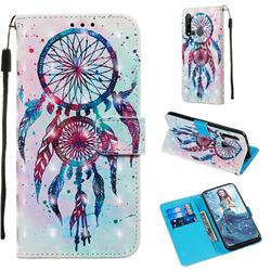 ColorDrops Wind Chimes 3D Painted Leather Wallet Case for Huawei P20 Lite(2019)