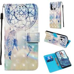 Fantasy Campanula 3D Painted Leather Wallet Case for Huawei P20 Lite(2019)