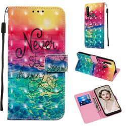 Colorful Dream Catcher 3D Painted Leather Wallet Case for Huawei P20 Lite(2019)