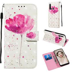 Watercolor 3D Painted Leather Wallet Case for Huawei P20 Lite(2019)
