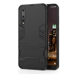 Armor Premium Tactical Grip Kickstand Shockproof Dual Layer Rugged Hard Cover for Huawei P20 Pro - Black
