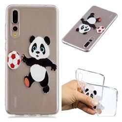 Football Panda Super Clear Soft TPU Back Cover for Huawei P20 Pro