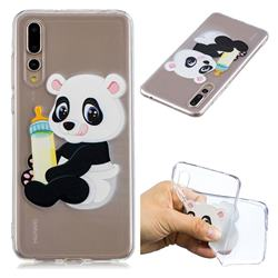 Baby Panda Super Clear Soft TPU Back Cover for Huawei P20 Pro