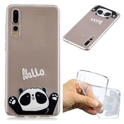 Hello Panda Super Clear Soft TPU Back Cover for Huawei P20 Pro