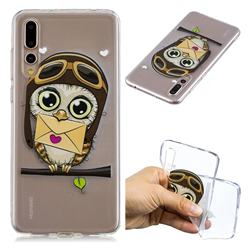 Envelope Owl Super Clear Soft TPU Back Cover for Huawei P20 Pro