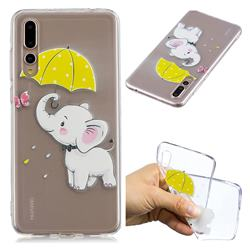 Umbrella Elephant Super Clear Soft TPU Back Cover for Huawei P20 Pro