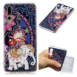 Totem Flower Elephant Super Clear Soft TPU Back Cover for Huawei P20 Pro