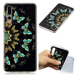 Circle Butterflies Super Clear Soft TPU Back Cover for Huawei P20 Pro