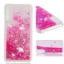 Dynamic Liquid Glitter Quicksand Sequins TPU Phone Case for Huawei P20 Pro - Rose
