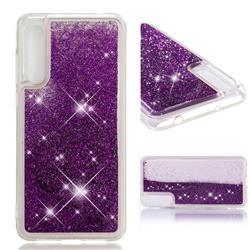 Dynamic Liquid Glitter Quicksand Sequins TPU Phone Case for Huawei P20 Pro - Purple