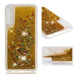 Dynamic Liquid Glitter Quicksand Sequins TPU Phone Case for Huawei P20 Pro - Golden