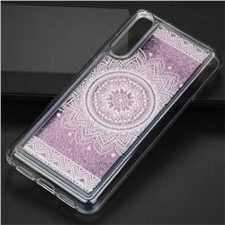 Mandala Glassy Glitter Quicksand Dynamic Liquid Soft Phone Case for Huawei P20 Pro