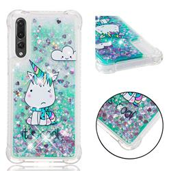 Tiny Unicorn Dynamic Liquid Glitter Sand Quicksand Star TPU Case for Huawei P20 Pro