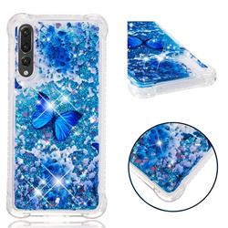 Flower Butterfly Dynamic Liquid Glitter Sand Quicksand Star TPU Case for Huawei P20 Pro